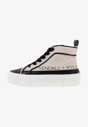 TENS - Sneakers hoog - black/cream/black