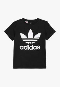 adidas Originals - TREFOIL TEE - T-shirt print - black/white - 0