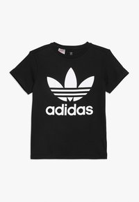 adidas Originals - TREFOIL - T-shirt z nadrukiem - black/white - 0
