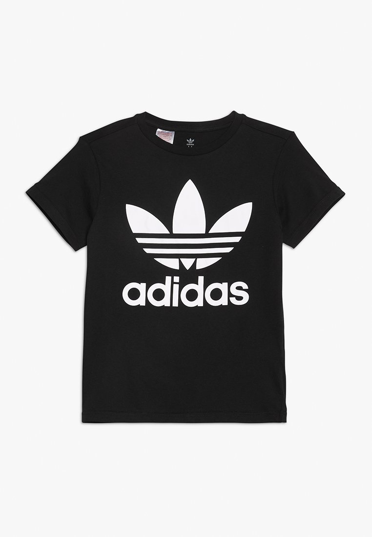 adidas Originals - TREFOIL - T-shirt z nadrukiem - black/white