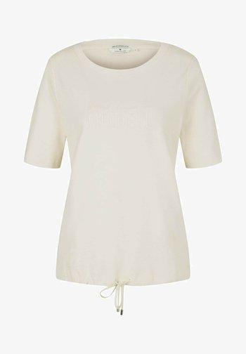 Print T-shirt - light sand
