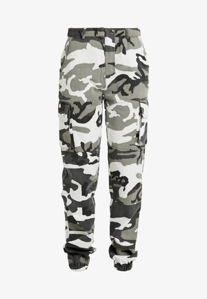 CAMO CARGO TROUSERS - Trousers - grey