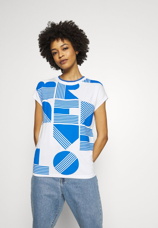 SALPHA PRINT - T-shirt imprimé - blue iris