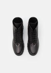 Neil Barrett - PIERCED PUNK BOOT - Šněrovací kotníkové boty - black - 3
