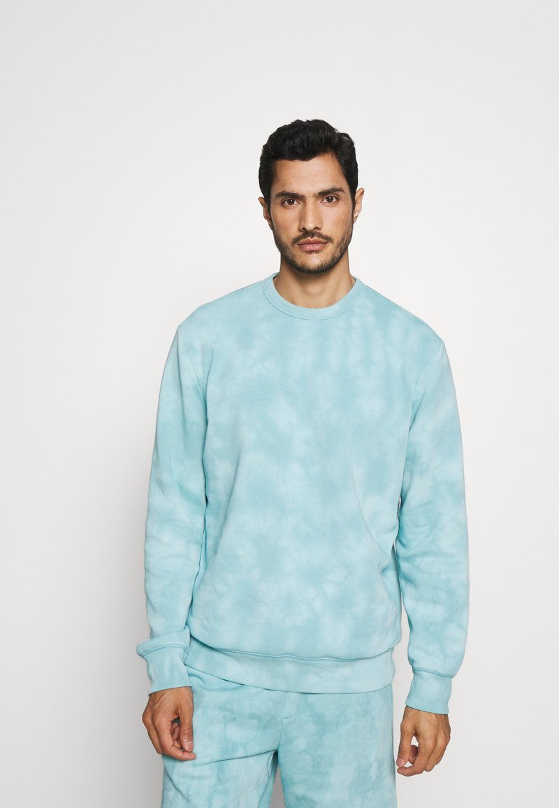 GAP - TIE DYE CREW - Sweatshirt - mellow blue