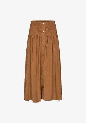 SC-RADIA - Pleated skirt - caramel