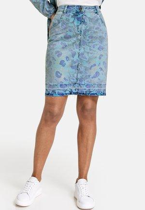 Falda vaquera - blue denim gemustert