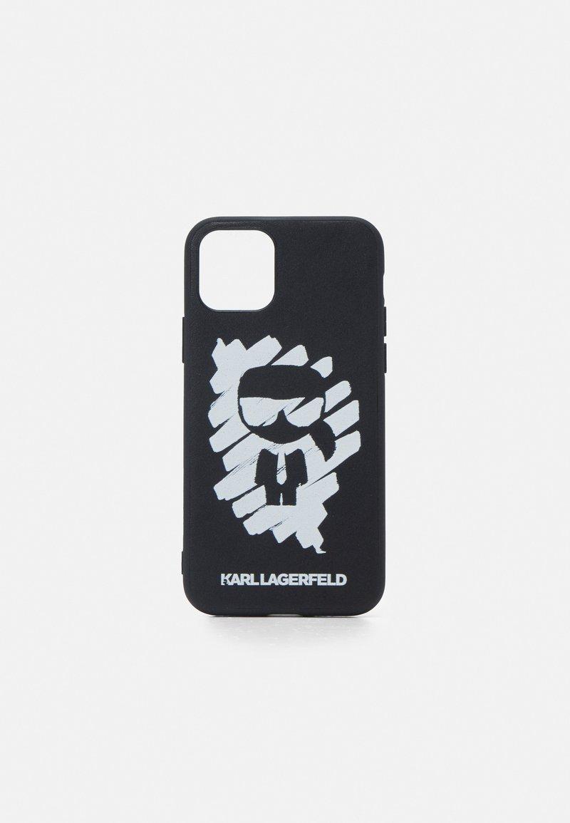 KARL LAGERFELD - IKONIK GRAFFITI CASE 11P - Etui na telefon - black