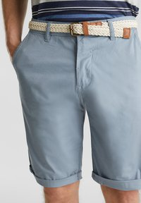 Esprit - MIT GÜRTEL - Shorts - grey blue - 4