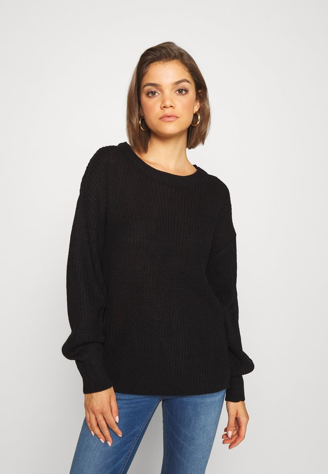 VICHIPPY NECK - Pullover - black