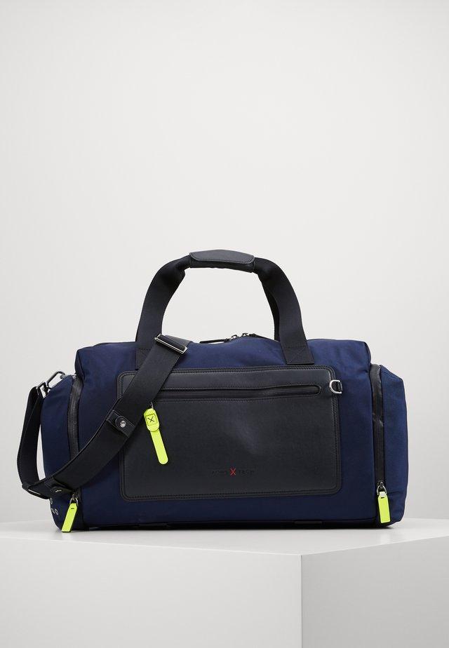 BROOKLYN GYM BAG - Viikonloppukassi - navy/neon yellow