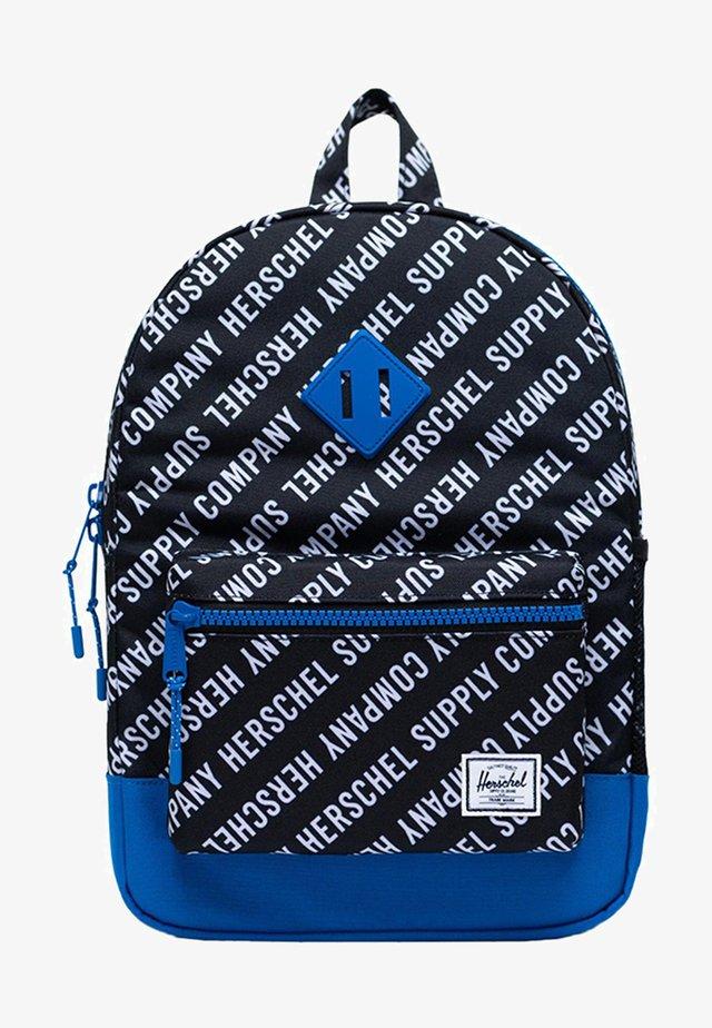 School bag - roll call black/white/lapis blue