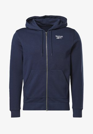 REEBOK IDENTITY ZIP-UP HOODED JACKET - Zip-up hoodie - blue