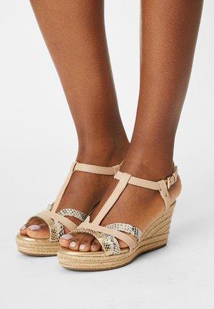 SOLEIL - Platform sandals - sand/beige
