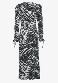 Topshop Tall - ZEBRA RUCH SLEEVE MIDI - Day dress - mono - 1