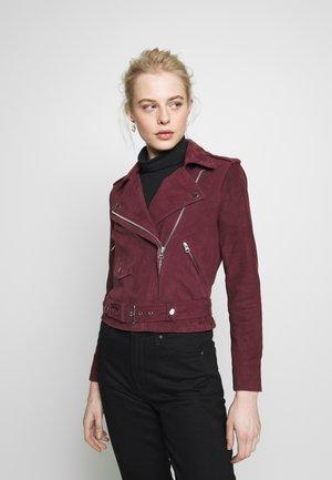 OBJNANDITA JACKET SEASONAL  - Leather jacket - port royale