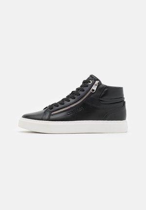 TOP LACE UP ZIP - Höga sneakers - black