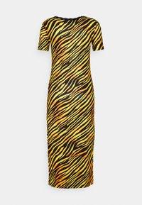 NEW girl ORDER - TIGER SQUARE NECKLINE BODYCON DRESS - Jersey dress - orange - 1