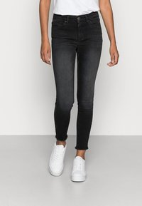 ONLY - ONLBLUSH RAW - Jeans Skinny Fit - black denim - 0