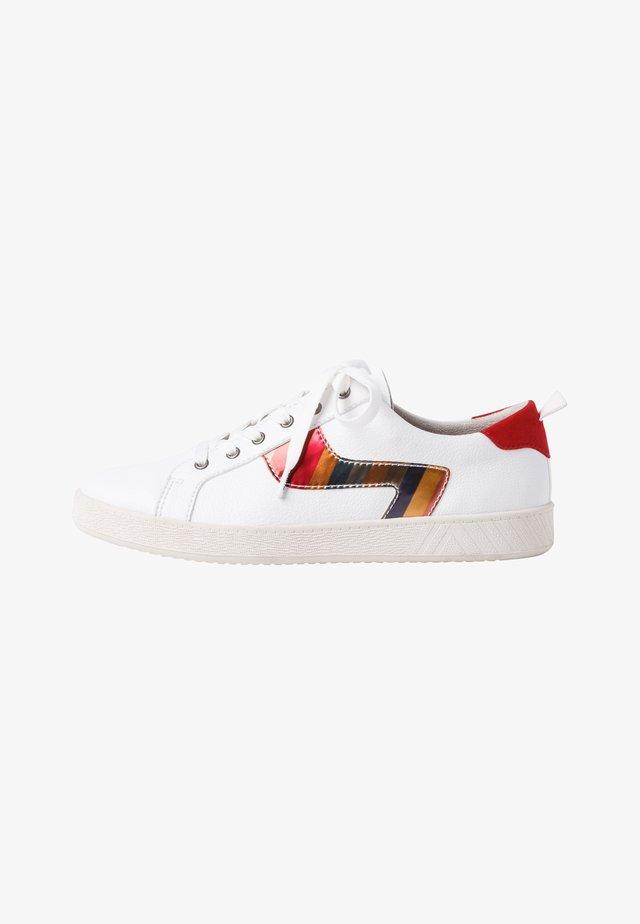 Sneakers laag - white/stripes