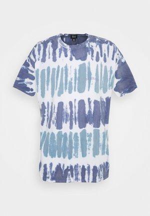 TIE DYE STRIPE TEE UNISEX - Print T-shirt - blue