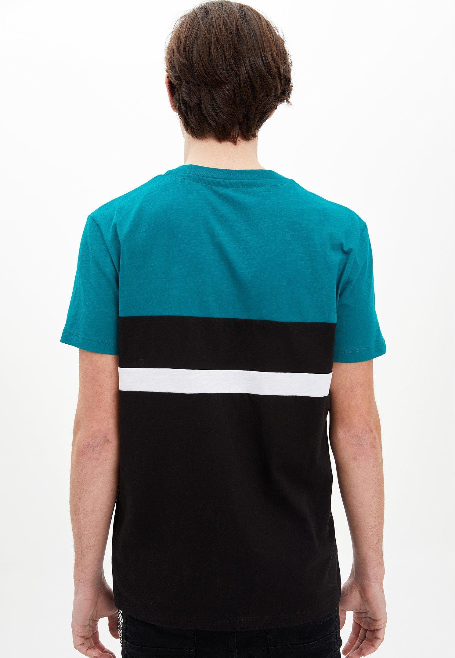 DeFacto Print T-shirt - green LE6FR