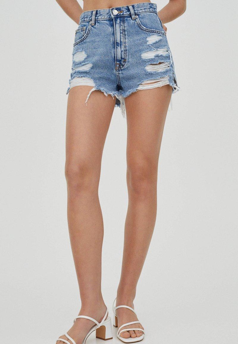 PULL&BEAR - Denim shorts - royal blue