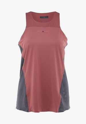 CLIMACOOL RUNNING TANK - Sports shirt - clay red/utility black