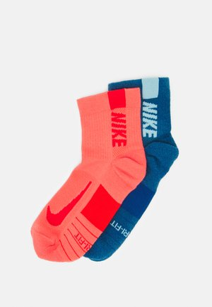 ANKLE 2 PACK UNISEX - Sports socks - riftblue(copa)/magic ember(chile red)