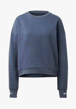 OVERSIZE COVER-UP - Sweater - blue