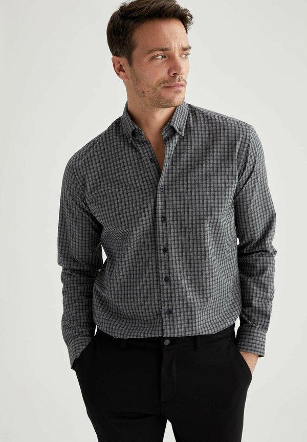 DeFacto Koszula - grey/szary Odzież Męska JLCZ