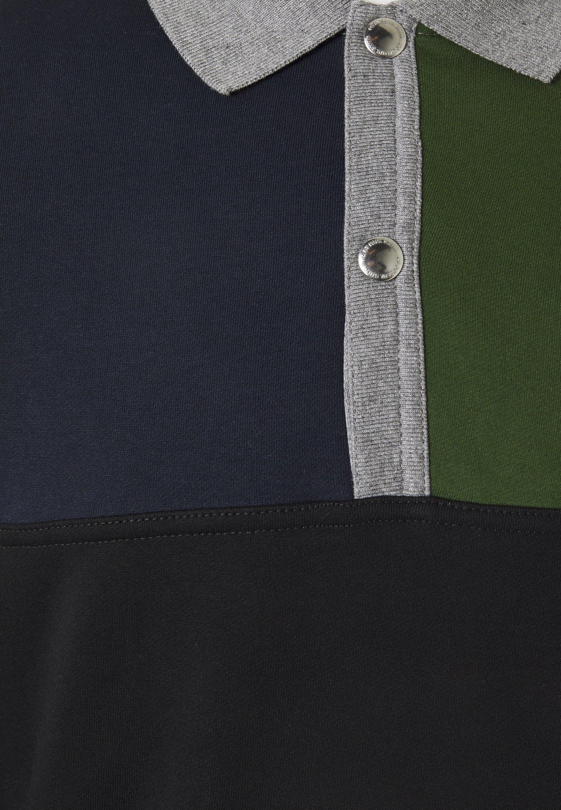 PS Paul Smith HALF PLACKET - Sweatshirt - grey/black/green V4F0pFhb