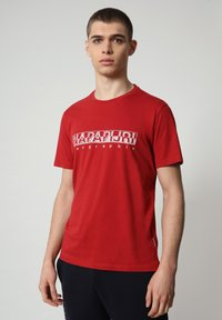 Napapijri - SALLAR - Print T-shirt - old red - 0