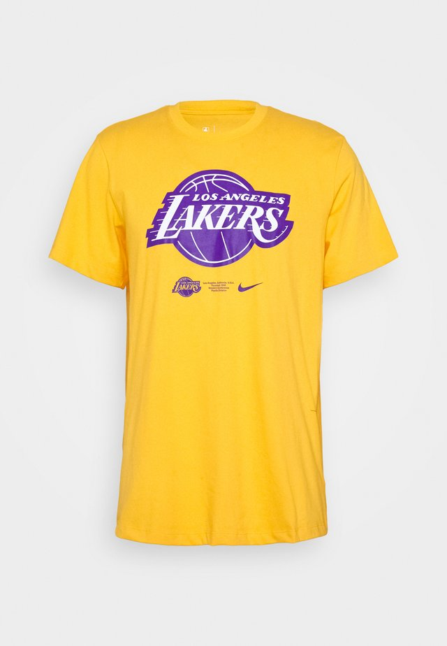 NBA LA LAKERS DRY LOGO TEE - Print T-shirt - amarillo