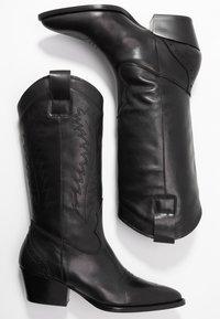 Depp - Kowbojki i obuwie motocyklowe - black - 3