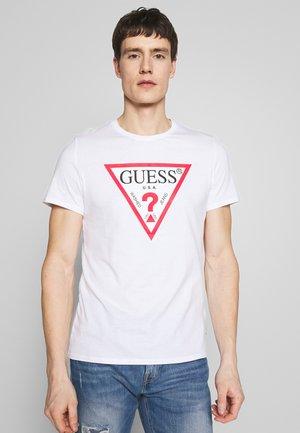 ORIGINAL LOGO TEE - T-shirt z nadrukiem - true white