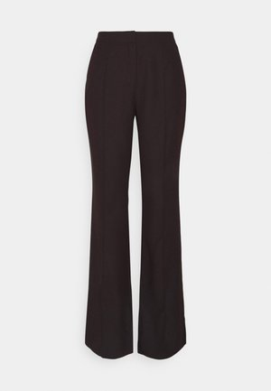 DRESSED SIDE SLIT PANTS - Pantalon classique - dark brown