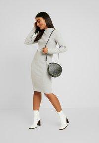 Vero Moda Petite - VMFANCY NANCY HIGHNECK DRESS  - Jumper dress - light grey melange - 2
