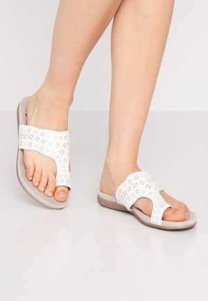 SLIDES - T-bar sandals - white