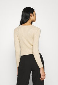 Monki - SILJA CARDIGAN - Cardigan - beige dusty light - 2