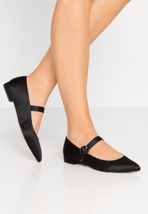 JEWELED BUCKLE MARY JANE HARLECH - Ankle strap ballet pumps - black