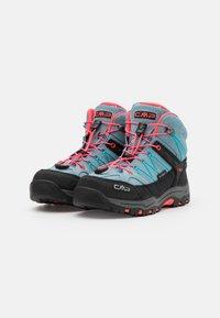 CMP - KIDS RIGEL MID TREKKING SHOE WP UNISEX - Hiking shoes - clorophilla/red fluo - 1
