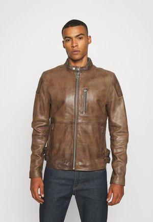 GALWAY Z BIKER - Kožená bunda - brown