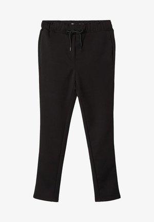HOSE GUMMIBUND - Pantaloni - black