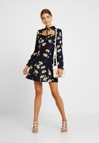 Missguided - OPEN FRONT MINI DRESS - Day dress - navy - 2