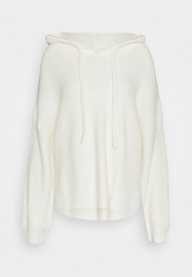 PREMIUM BOYFRIEND HOODIE - Pullover - white