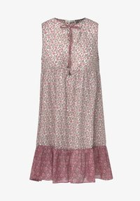 OYSHO - PINK INDIAN FLORAL COTTON NIGHTDRESS - Day dress - coral - 6