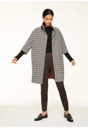 Classic coat - black camel houndstooth