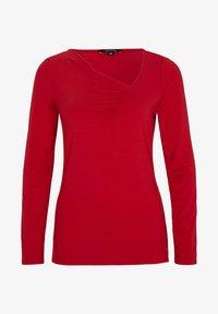 comma - MIT GERAFFTEM AUSSCHNITT - Long sleeved top - red - 4