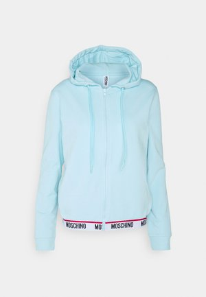 ZIPPED HOODIE - Pyžamový top - light blue